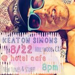 #LA! Get yo booties to @thehotelcafe tonight! @keatonsimons 8pm. #hollywood http://t.co/Cc5r263tbq