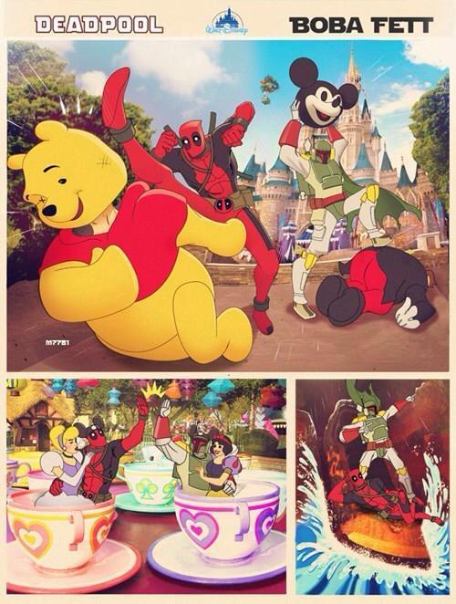 Deadpool et Boba Fett à Disneyland ^ ^ http://t.co/d6uq5EKyjS