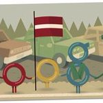 25th Anniversary of the Baltic Way by @GoogleDoodles. #Lithuania, #Latvia and #Estonia @BalticWay http://t.co/ZMPwHsd4Va