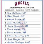 RT @Angels: Heres how the #Angels line up tonight against the As: http://t.co/TPzfyijdhB