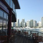 Checking out the new patio. Best view and love Lees Lamb Dip! #StampsLanding #Vancouver @MahonyAndSons http://t.co/Mezd3NYyXg