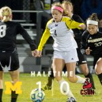 RT @umichwsoccer: Wolverines lead CSUN 1-0 at the break! #GoBlue http://t.co/MCArdGwi2m