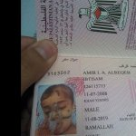 Amir Al-Reqeb will travel to receive treatment outside #Gaza. His first Passport! Many injuries r having similar pics http://t.co/ANb8MknNA9