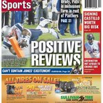 RT @bostonherald: Boston Herald sports page, August 23, 2014: Tom Brady uses an array of receivers http://t.co/nA2hlq751h http://t.co/yMML0GUn8s