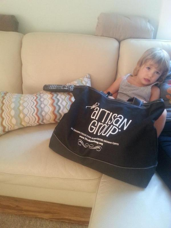 @theartisangroup loved the swag bag. So does Jaylen http://t.co/ei7Xo6tWAa