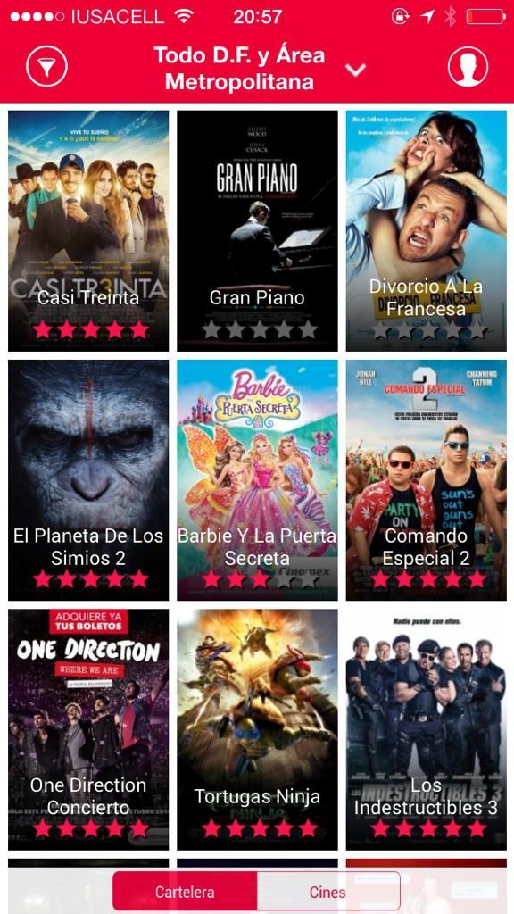 Cinco estrellas para @Casi30_Pelicula en @Cinemex