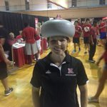 Hey @UNLCampusRec heres @svaccaro117 trying on a curling stone hat at #HuskerMania. Pure gold right? http://t.co/U27uJTofdT