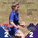 Great job by the ladies coming up with two equalizers to get the draw in the season opener #WeAreLATech http://t.co/fJcyeBBM8Q
