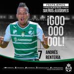 1 ¡Goooooooool de @toporente! @ClubSantos 1 - 0 @deptolucafc | J6 | #EstadioCorona | #GuerreroNoCualquiera http://t.co/eWQEuhAP6q