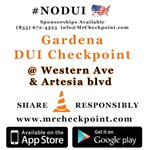 RT @MrCheckpoint: NOW #LosAngeles DUI Checkpoint #Gardena Western Ave & Artesia Blvd #NODUI #LA #ferg... http://t.co/ZSZY72xUI2 http://t.co/UIwjMbK8BO