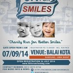 #5KforSMILES Charity Run 5K + hiburan dance & DJ | 7 sept at Balkot | more info: 081220750756 - @5KforSMILES http://t.co/28q9h5aXTc