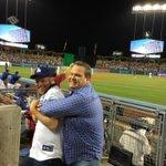 Tonight at Dodger Stadium, we had the KissCAM #ModernFamily @jessetyler @ericstonestreet http://t.co/PJUCxVhgAd
