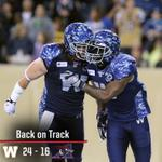 RT @CFL: RECAP: A strong second half helped @Wpg_BlueBombers down @MTLAlouettes 24-16 - http://t.co/yhwNjRhXU1 #FNF http://t.co/rE7NDcoXWr