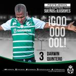 RT @ClubSantos: 76 ¡Goooooool de @darwinJR3! @ClubSantos 3 - 0 @deptolucafc | J6 | #EstadioCorona | #GuerreroNoCualquiera http://t.co/ozALsFGD9W