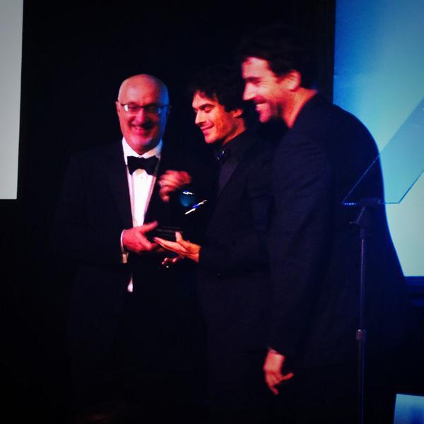.@IanSomerhalder receives Heifer's #BeyondHunger Noble Globe! http://t.co/gKmplk1hPM