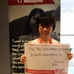 """RT @liying_55555: @TeachForMsia at #MSLS2014. Vivian writting her dreams thr kids:""""For all children to have equal education!"""" http://t.co/RCJur1xaP0"""