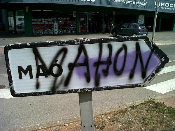 """Aquests espanyols són uns totxos. """"@GuillemAlfocea: #ésMaó @Mao_Mahon http://t.co/K380ysf1p8"""""""