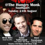 Live comedy tomorrow night at the Hungry Monk #Southport http://t.co/DTq0TUS8w2