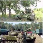Помните Порошенко пригнал технику в фашистскую армию? Снялся на фоне Т-72? Танк уже перешёл на сторону народа ))) http://t.co/pbYZwuxKxa