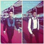 [FOTO] Fashion Show @BatikBakau: Mahakarya Adiwarna wif our super talented models Mr. @Al_Majid_ and Mr. @alvehadika. http://t.co/Fy3VY6bogf