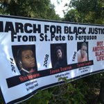 RT @markriv: At noon, a march from #Uhuru House to #StPete PD headquarters for Mike Brown & others killed by police @WTSP10News http://t.co/Ua3nva0PvO