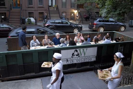This peak #caucasity right here. White people + Williamsburg + Salvaged food + Dumpster = http://t.co/hWjjUM3REy http://t.co/9zOUioG4tk