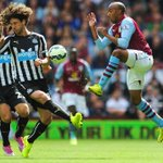#AVFC 0-0 #NUFC - MATCH PIC: Fabian Delph battling in the middle of the park. #AVFCLIVE http://t.co/2oPpbpkDfb
