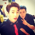 RT @GyuHaeBiased: Blue Donghae ~ RT @henrylau89 backstage with dong hae! indonesia!! http://t.co/mgdojHg1PC http://t.co/F4suyIW0QW