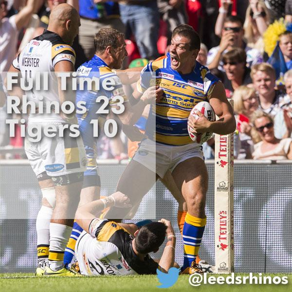 Leeds Rhinos have done it! @TetleysChalCup Final Winners 2014! http://t.co/yTdUPDkJfk