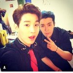 """""""@henrylau89: backstage with dong hae! indonesia!! http://t.co/AI457fFSt5"""" http://t.co/3rKml2c0dO"""
