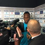 RT @chelseafc: And heres a pic of @didierdrogba speaking to the media a short while ago... #CFC http://t.co/zdn5j46S4T