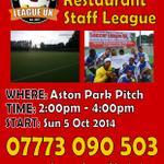 RT @SoccerLeagueUK: Brand New #Birmingham 7-A-Side Soccer League. Starts Sun 5th Oct 14 #slukbirmingham http://t.co/syzO2GYT61 http://t.co/V9tuX5cFiP