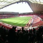 RT @nigel_short: A lot like Bramall Lane here. Empty red seats everywhere #swfc http://t.co/ch2oqEV7pc