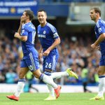 Full-time: Chelsea 2-0 Leicester! #CFCLive http://t.co/K7yVTqv9eA