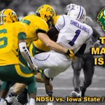 RT @NDSUathletics: ONE week until Bison Football! Can you wrap your arms around it? The Herd is back! #BisonPride http://t.co/C5IGINssaC