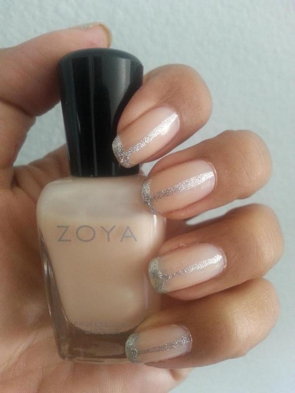 loving my silver accent #NailArt #manicure featuring @ZoyaNailPolish in Olivia. So sophisticated @glamourmag http://t.co/9UJHLIuJf6
