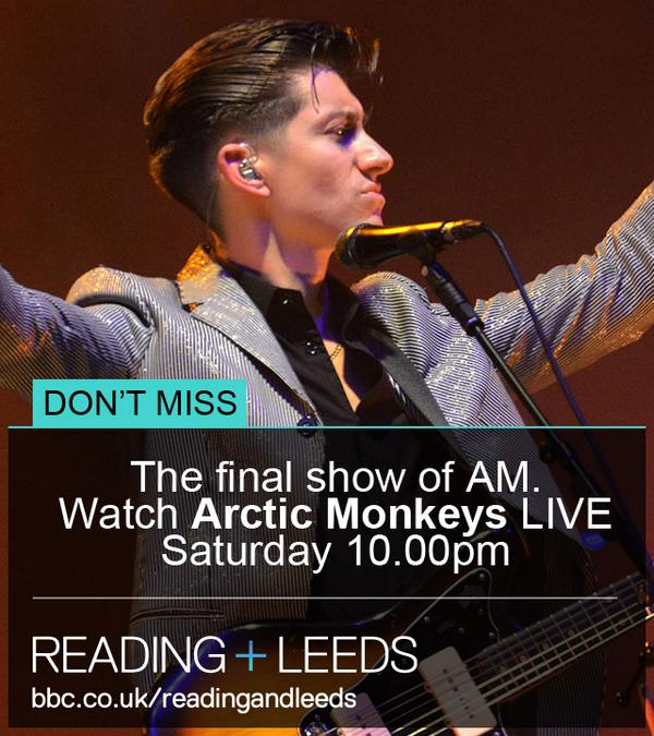 Coming up on http://t.co/zCHkqY0Q1q & @bbcthree -  a headline set from the awesome @ArcticMonkeys #bbcreadingfest http://t.co/ngRwMb85x1