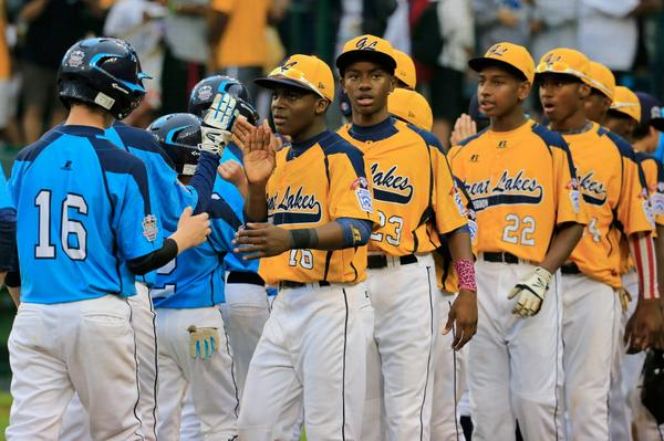 Jackie Robinson West celebrates today's big win http://t.co/hoIdDQxD79  | Getty Images #JRW #LLWS http://t.co/wvSkTmOb9z