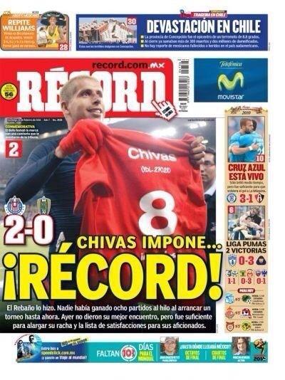 ¡ATENCIÓN!  Wilas y Amargos... Esto es un récord de invicto y victorias   #Chivas http://t.co/Wpt2yZDWix