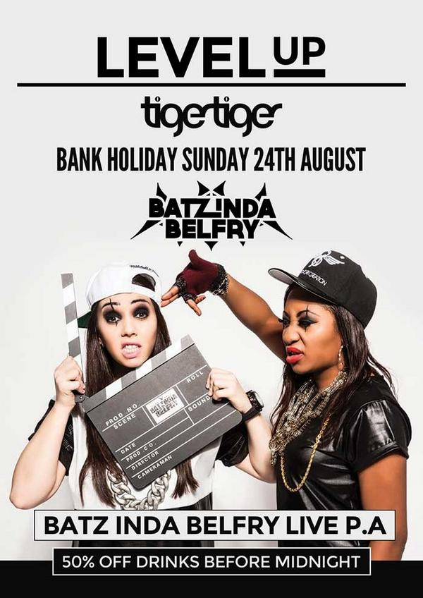 If you're in MCR tonight all roads lead to @TigerTigerMCR gonna be big! Hit up @envysays b4 12pm today for G list