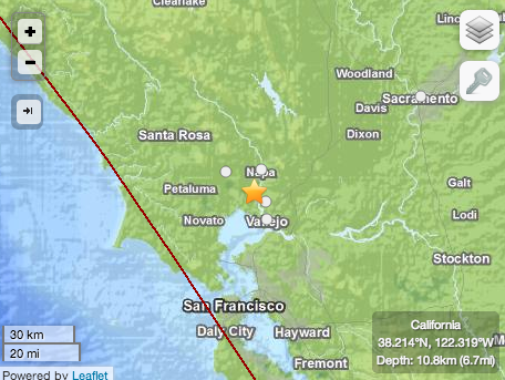 6.1 #quake in #SanFrancisco, between Napa and Vallejo. http://t.co/SgsYVMYyis #qarthquake #sfbayarea http://t.co/t9NOrWKlA6