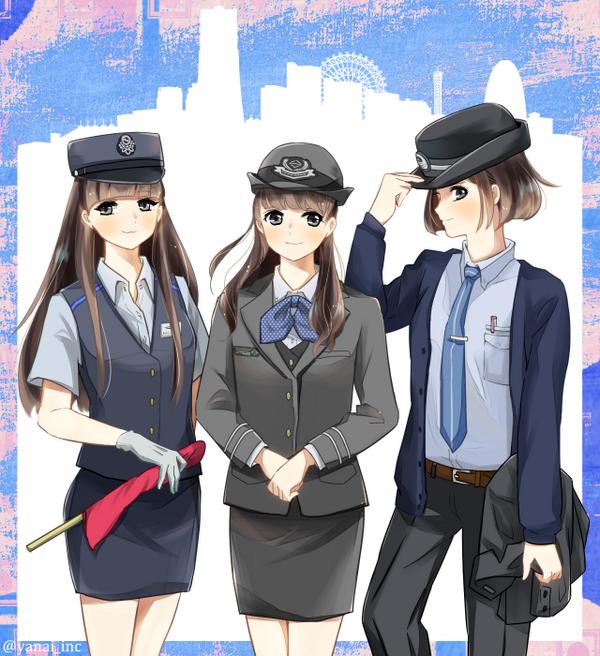 Perfumeに横浜駅乗り入れ路線の制服を着てもらいました #prfm http://t.co/u4xURfUBjG http://t.co/qyCYD80KuF