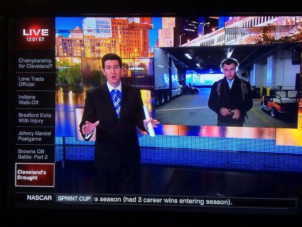 #Cleveland is absolutely dominating @SportsCenter.   (Screen cap from @PhotoDAC) http://t.co/cDsJ3ncIIk