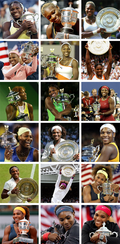 Serena Williams and her 18 slams http://t.co/XeXi4eOgxa
