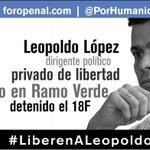 #29M Leopoldo Lopez: 398 días privado de libertad. Dirigente Político Nacional #Venezuela #LiberenALeopoldo http://t.co/am0MqKSenZ