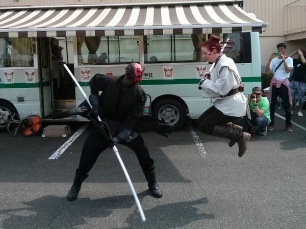 ジェダイさんvsダースモール、結構アクションしてました。 http://t.co/yQ1KjRkJOR
