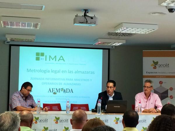 Hoy #AEMODA #GEOLIT Jornada de de metrología legal y control de agotamientos en fabrica http://t.co/mCatoOOtzw