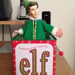 Very rare RT @Dana283: Got the BEST collectible from yard sale! An Elf jack-in-the-box that was given out as a promo.
