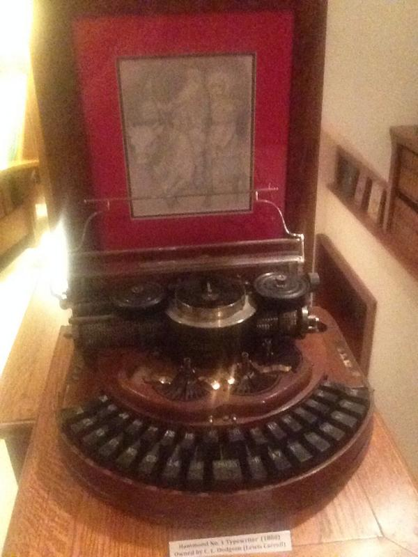 Sometimes you're just at a party and Lewis Carroll's typewriter is there http://t.co/W5KhWUKQSq