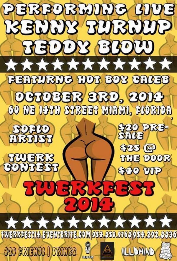Kenny Turnup and Teddy Blow performing live Oct. 3 #TwerkFest http://t.co/ThBvh6Or4d